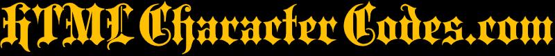 HTMLCharacterCodes.com Logo